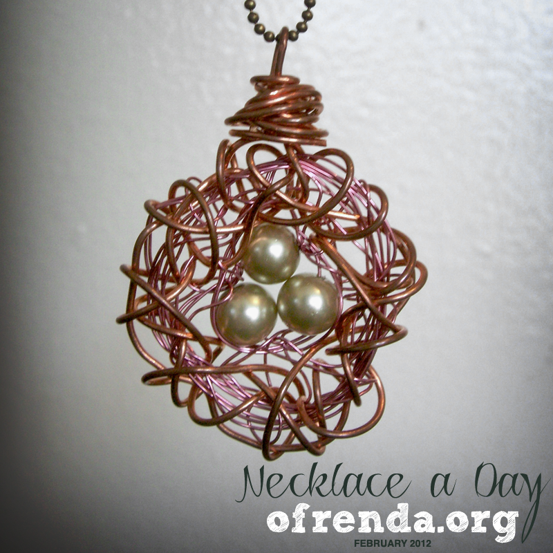 Day 1 Birds Nest Pendant