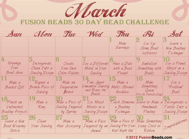 March National Craft Month 30-Day Challenge